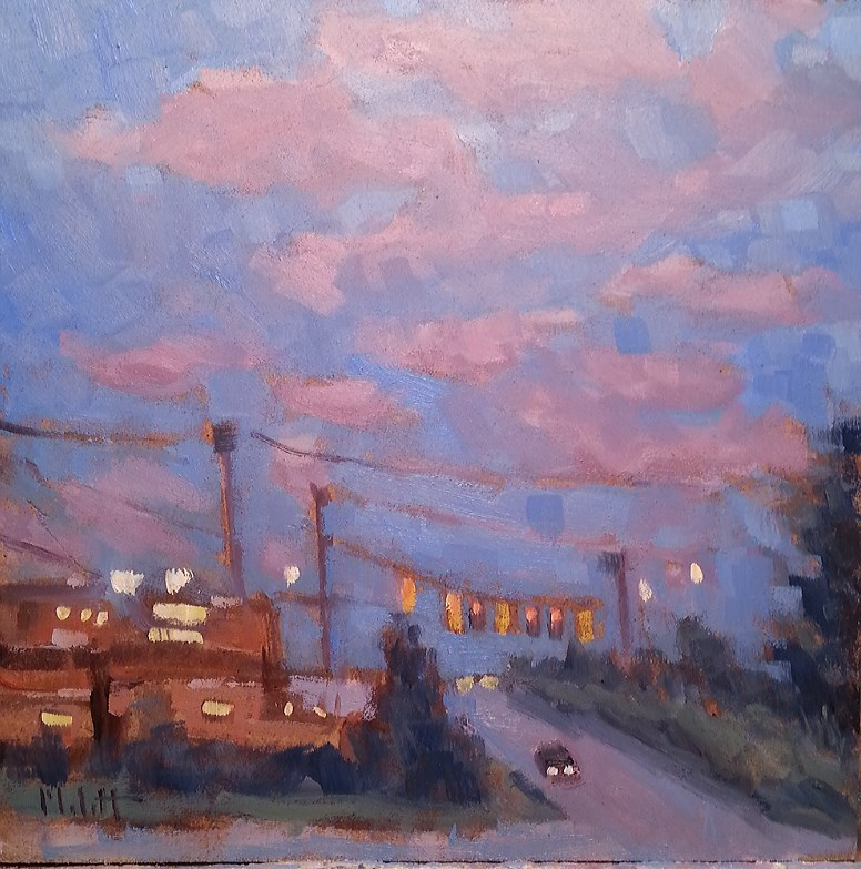 """Halloween Sky Sunset original oil painting"" original fine art by Heidi Malott"