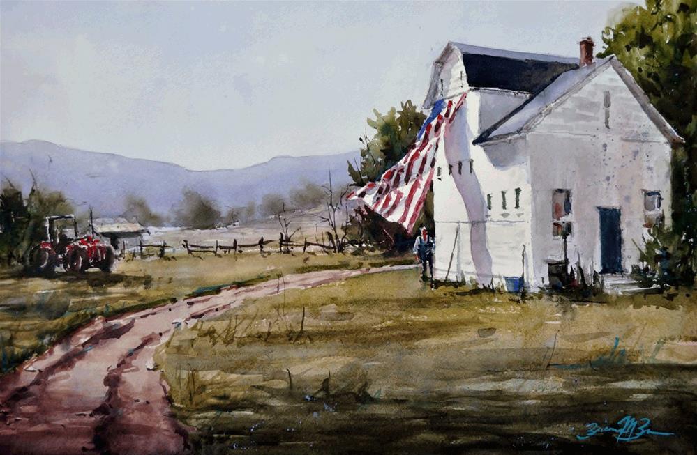 """""""Heart of America"""" original fine art by Brienne M Brown"""