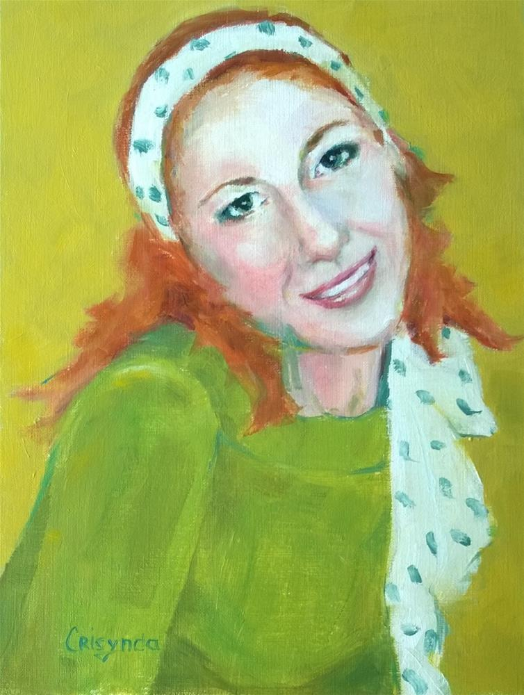 """Well, do you like my scarf?"" original fine art by Crisynda Buss"