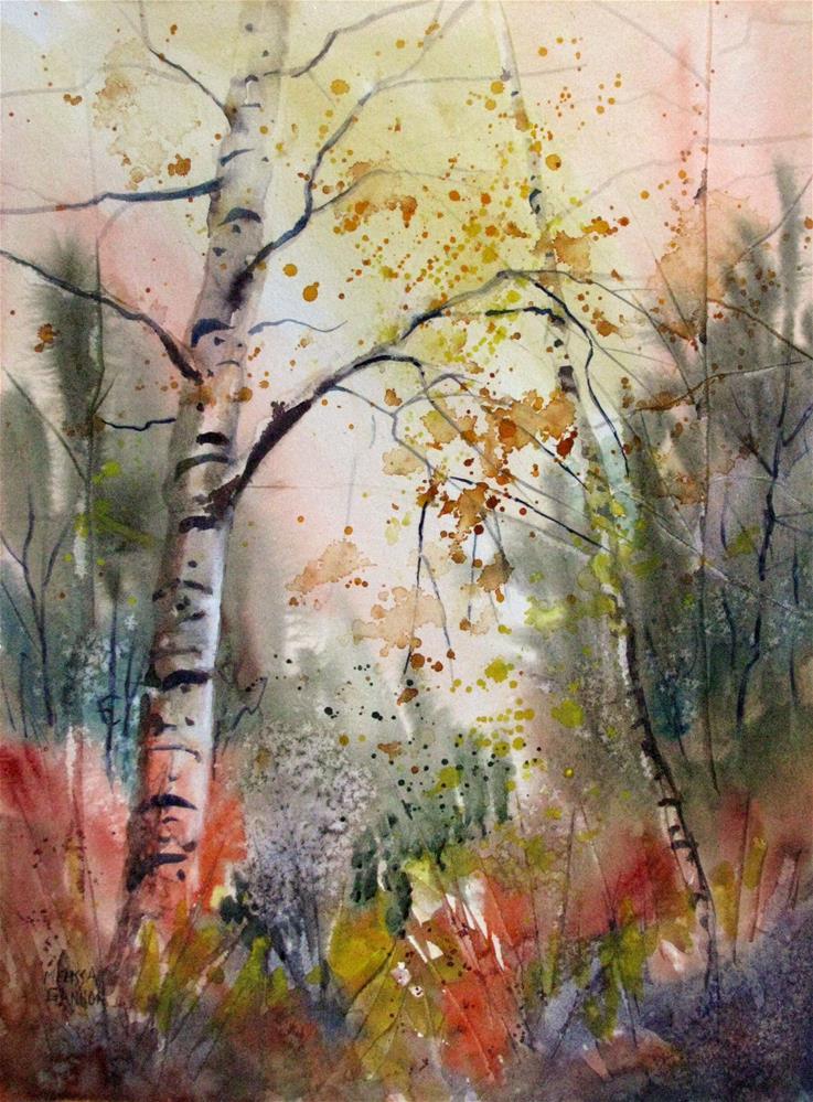 """""""Autumn Poem"""" original fine art by Melissa Gannon"""