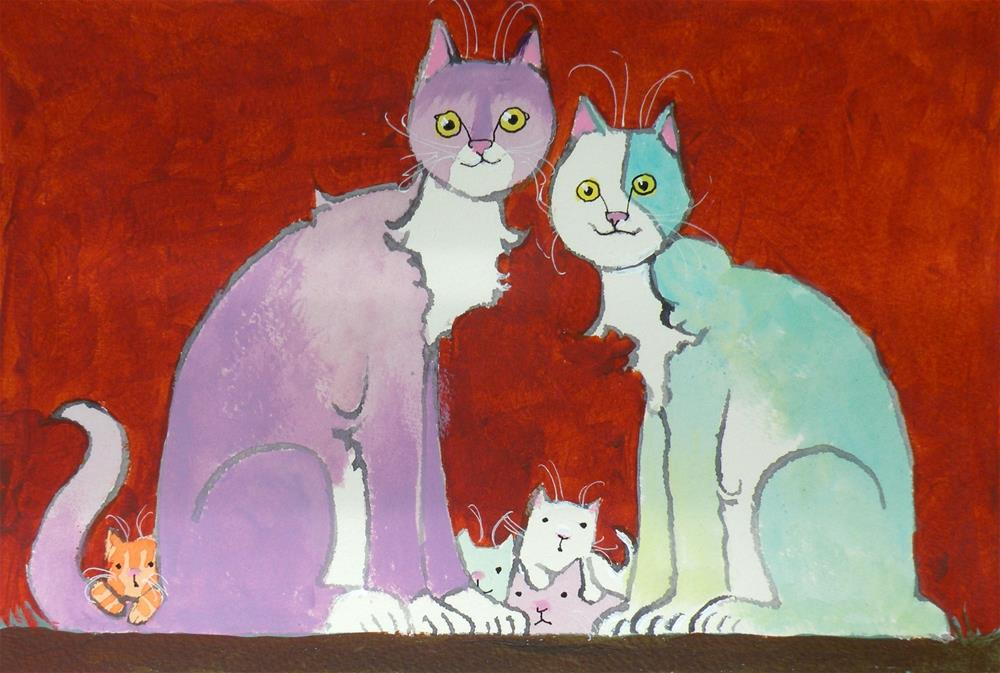 """""""Family Time"""" original fine art by Toni Goffe"""