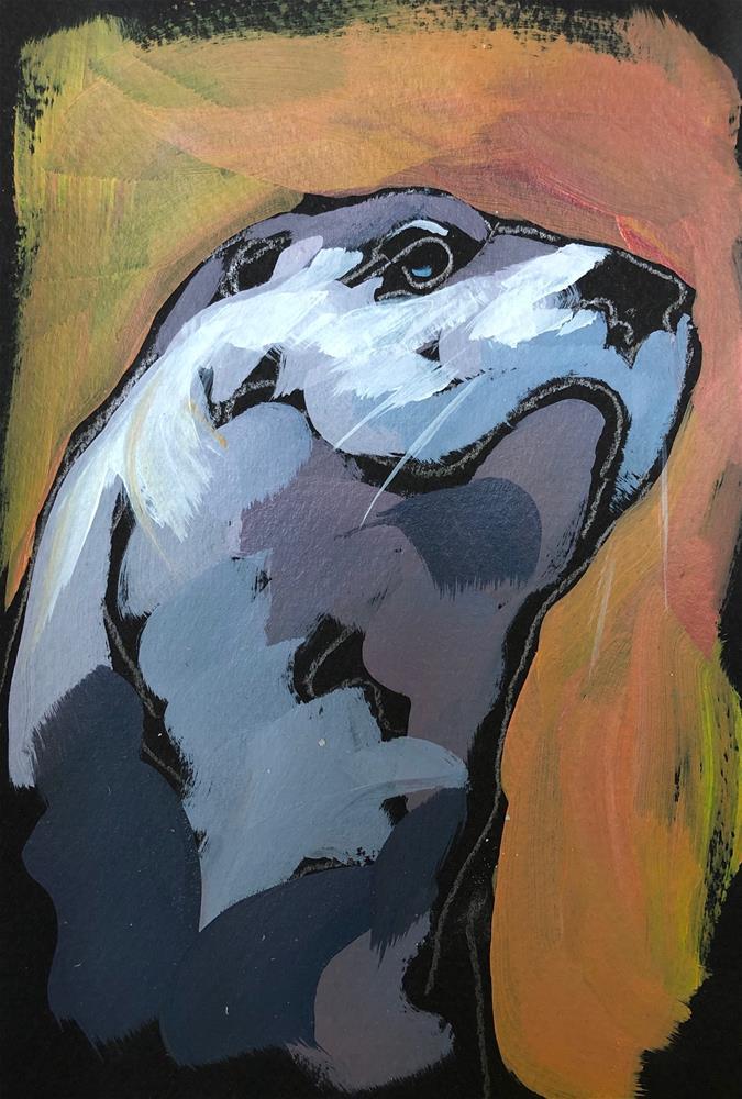 """Otter Profile"" original fine art by Kat Corrigan"