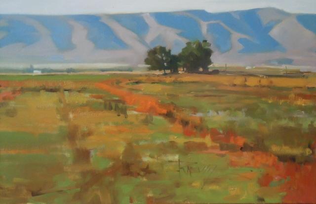 """Yakima Valley Farm  Eastern Washington oil painting by Robin Weiss"" original fine art by Robin Weiss"