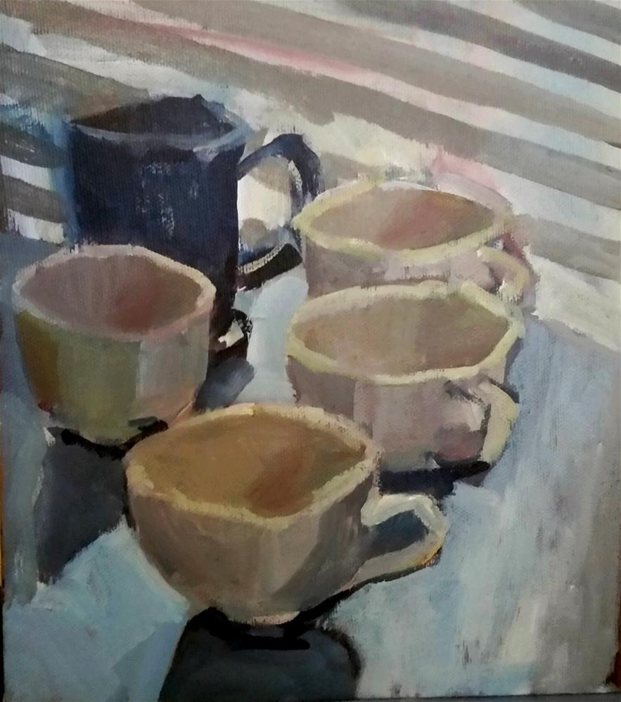 """Cups "" original fine art by Liz Maynes"