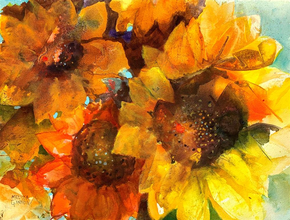 """Sunflower Talk"" original fine art by Melissa Gannon"