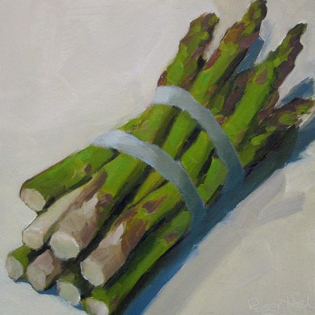 """Asparagus"" original fine art by Robin Rosenthal"