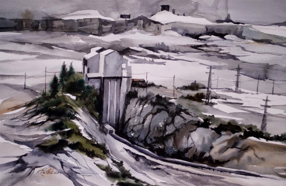 """Thornton Quarries II"" original fine art by Kathy Los-Rathburn"