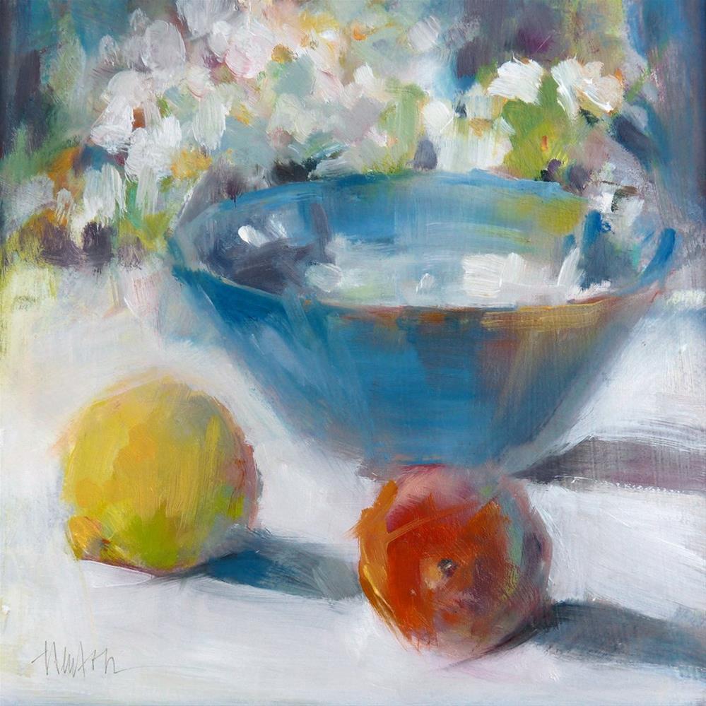 """Blue Bowl - Framed"" original fine art by Barbara Benedetti Newton"