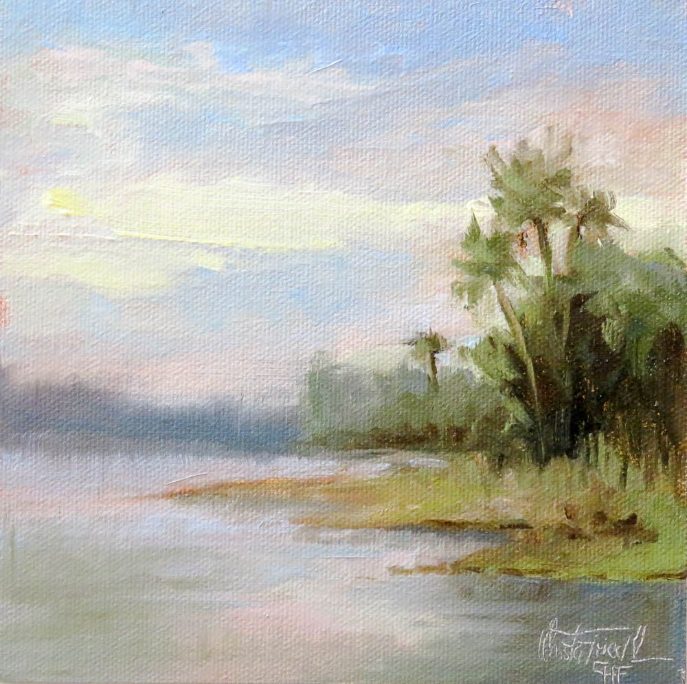 """Florida Waterways"" original fine art by Christa Friedl"