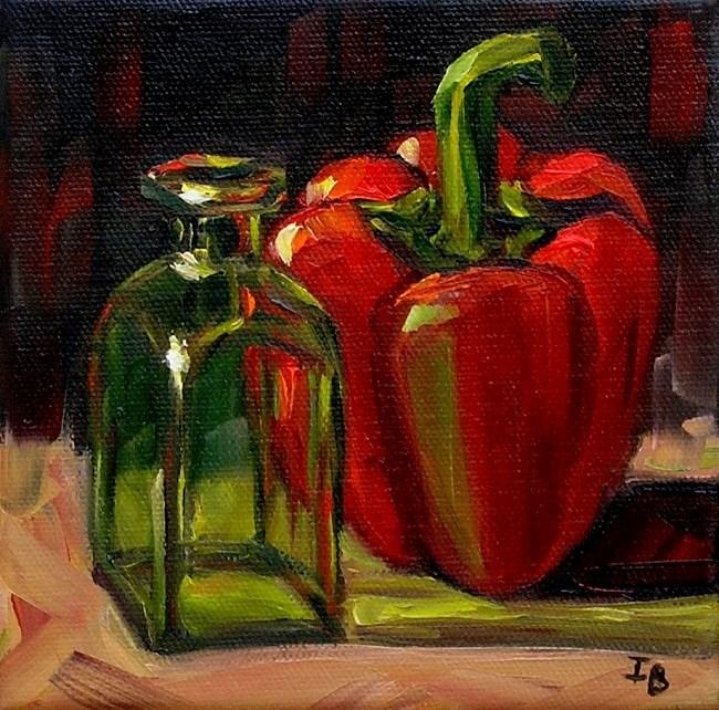"""""""Green Light"""" original fine art by Irina Beskina"""