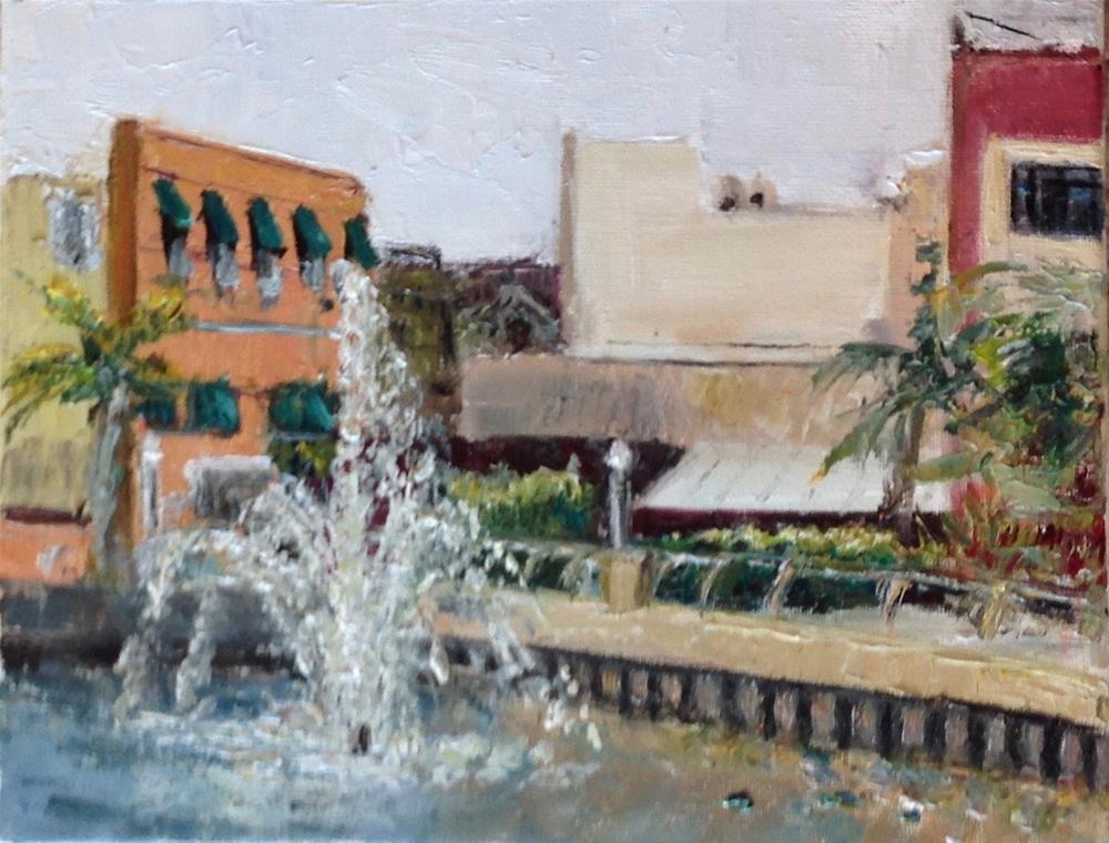 """""""Fountain View Ft. Myers, Fl."""" original fine art by Judy Usavage"""