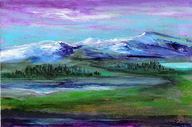 """3111 - Twilight Reflections - OSWOA DUO Series"" original fine art by Sea Dean"