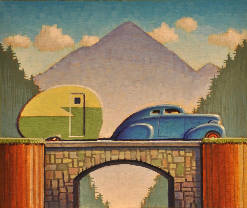 """Camping"" original fine art by Robert LaDuke"