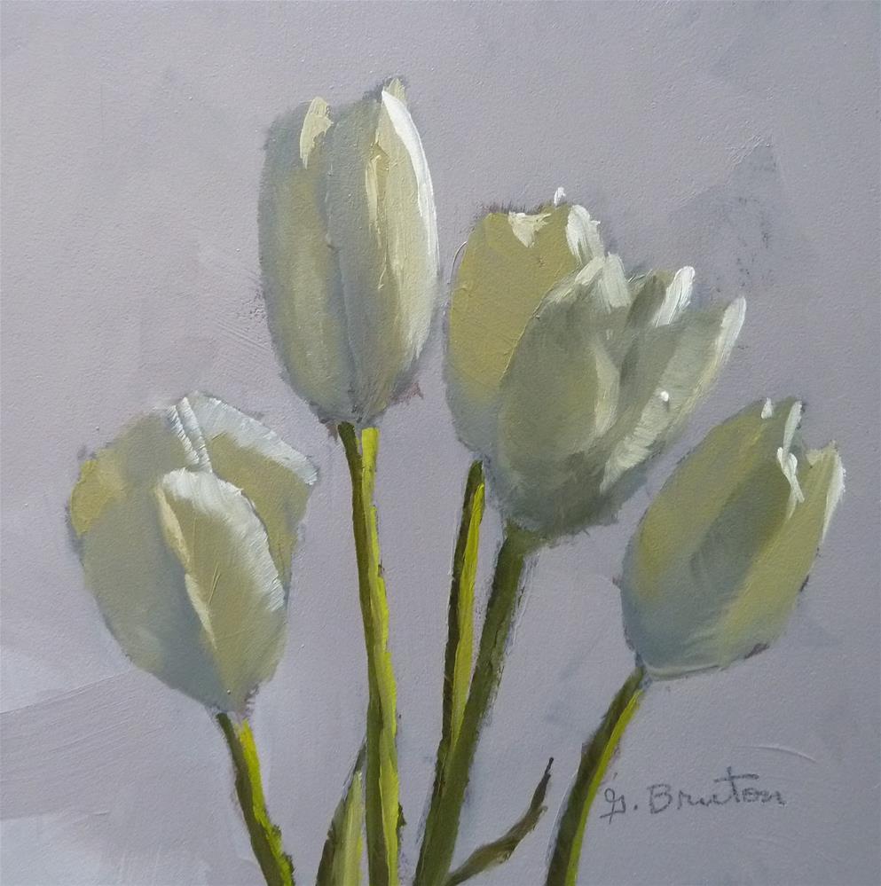 """Cream Tulips"" original fine art by Gary Bruton"