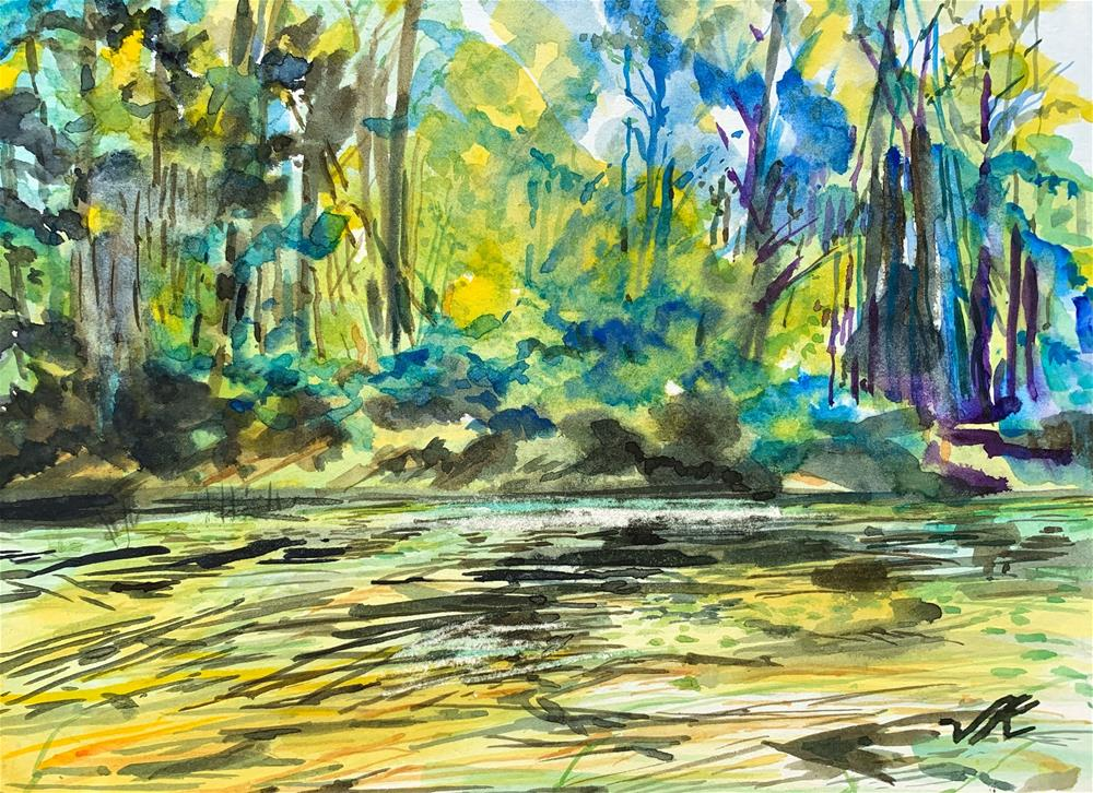 """Indian Lake Slough"" original fine art by Jean Krueger"