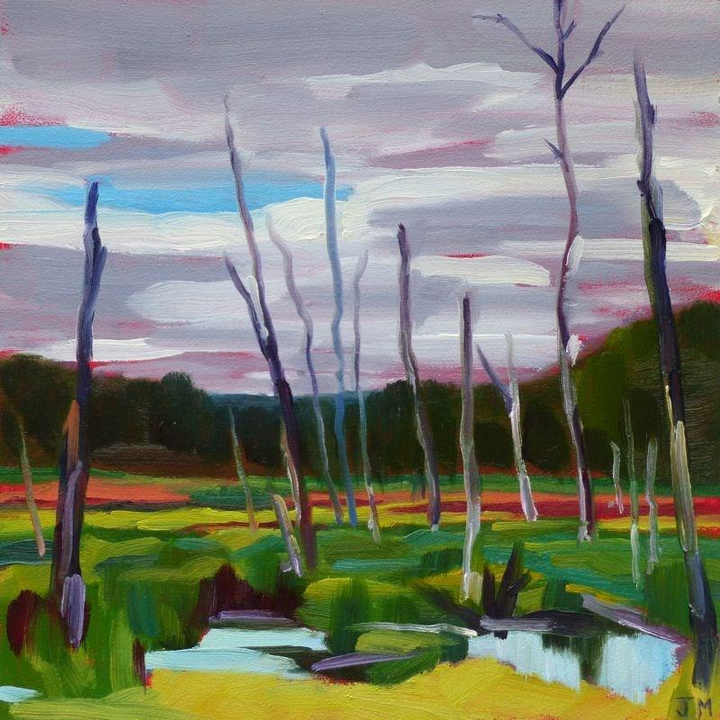 """Swamp at the Tourne"" original fine art by Jessica Miller"