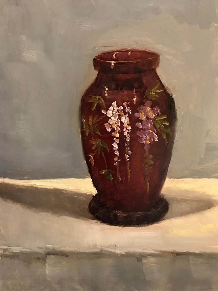 """my mom's Japanese vase"" original fine art by Betty Argiros"