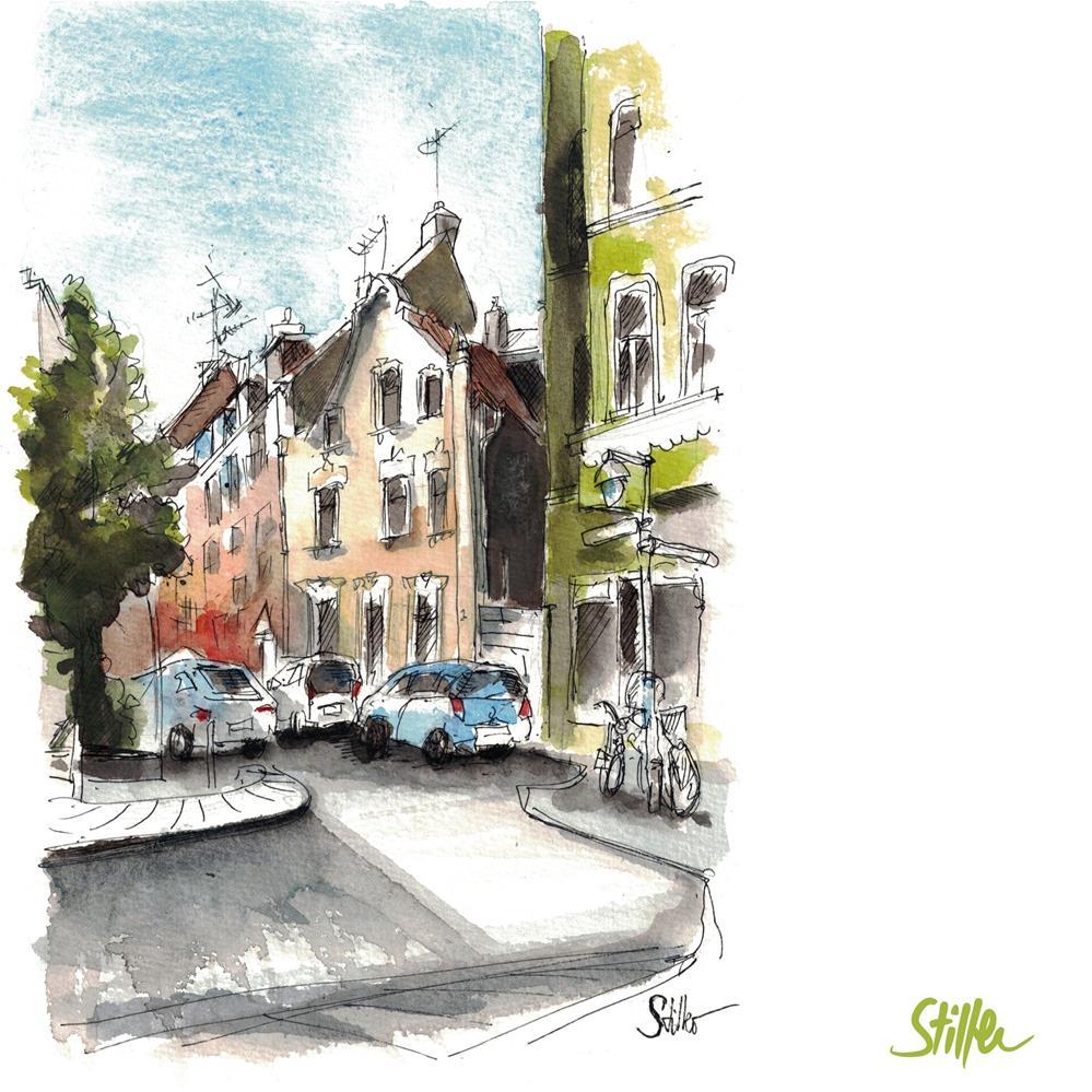 """""""3631 Schoenfelder St."""" original fine art by Dietmar Stiller"""