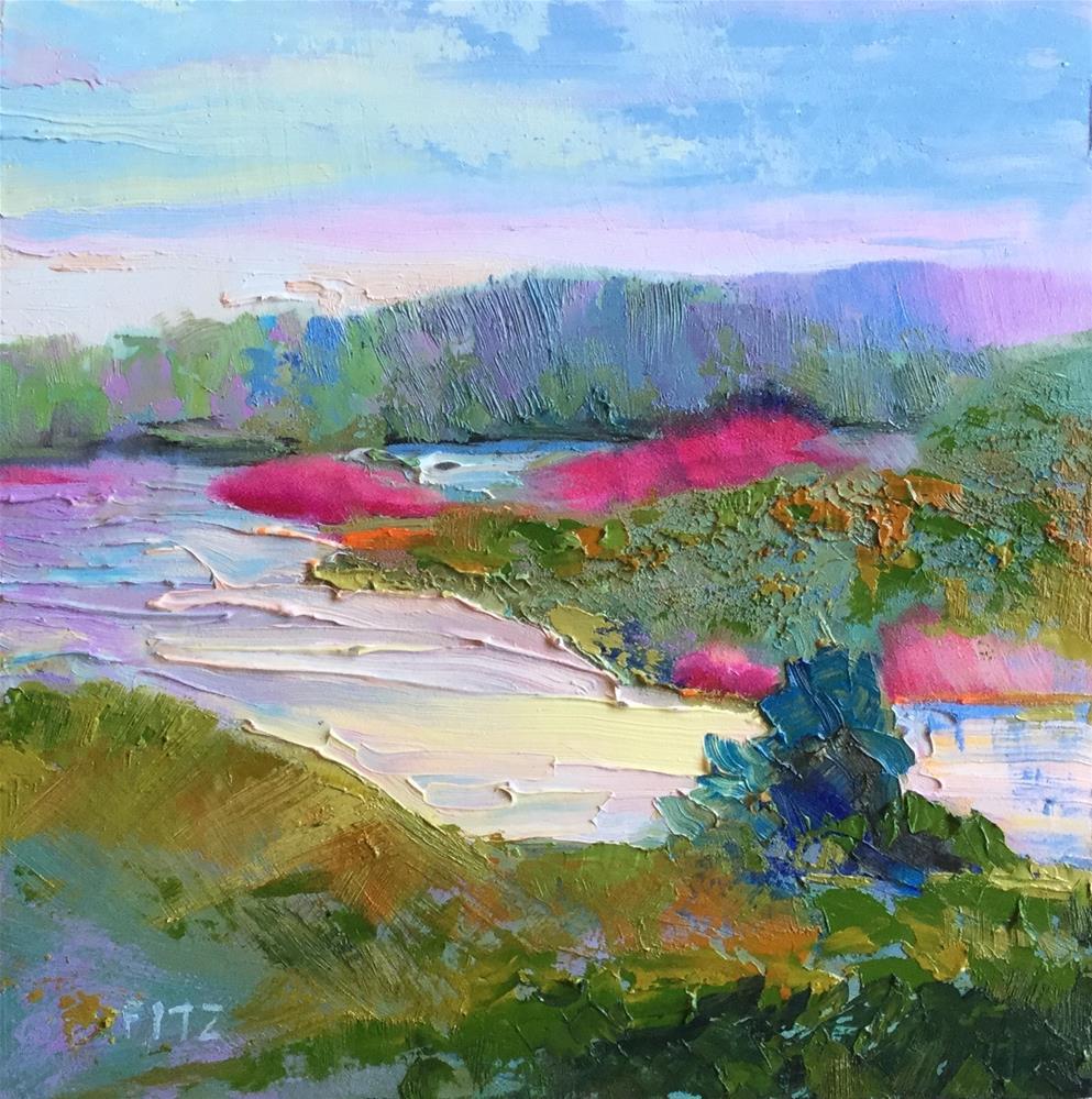 """Stream"" original fine art by Charlotte Fitzgerald"