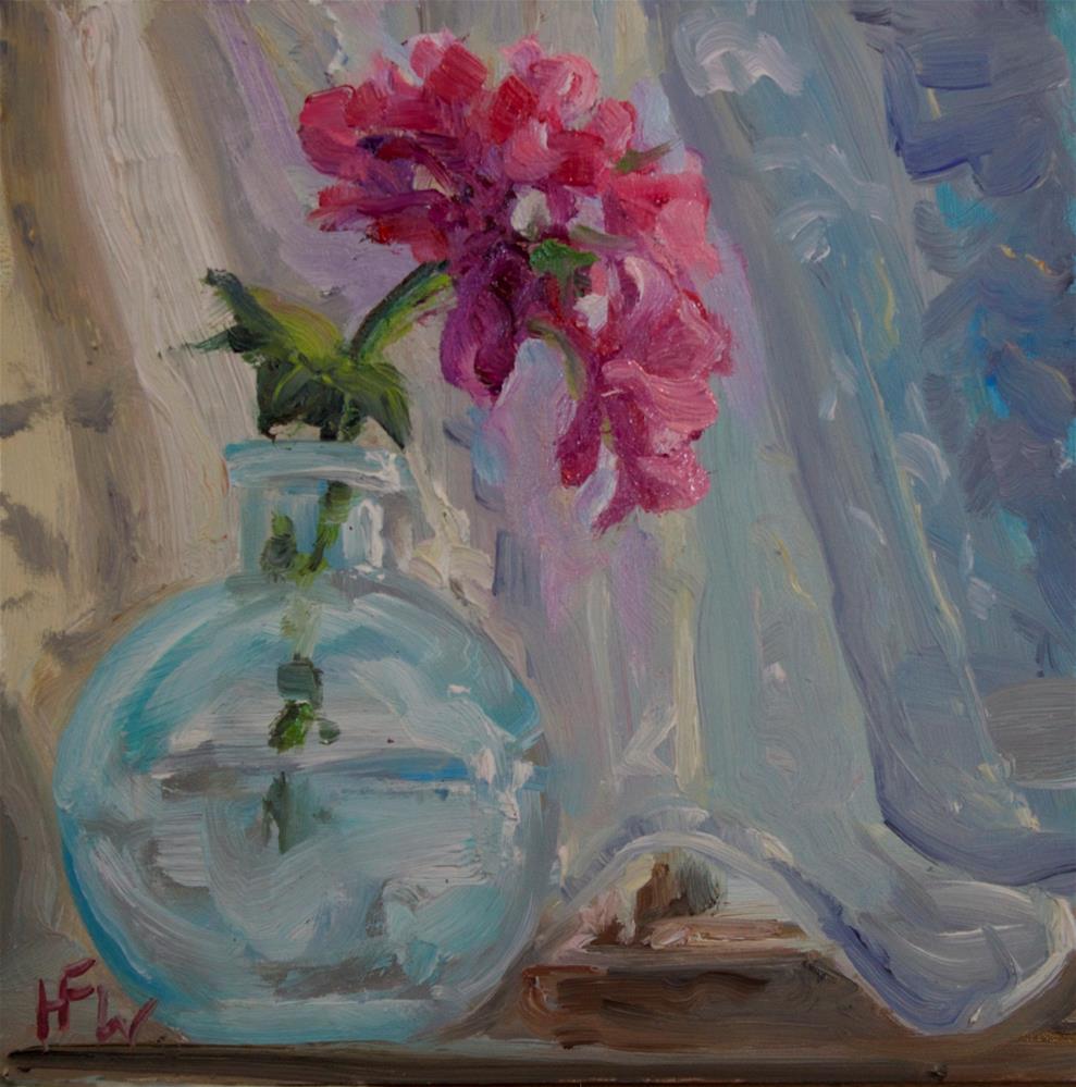 """Geranium Clipping"" original fine art by H.F. Wallen"