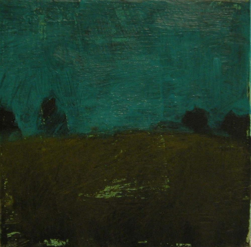 """Noche Azul"" original fine art by Kristina Davidson"