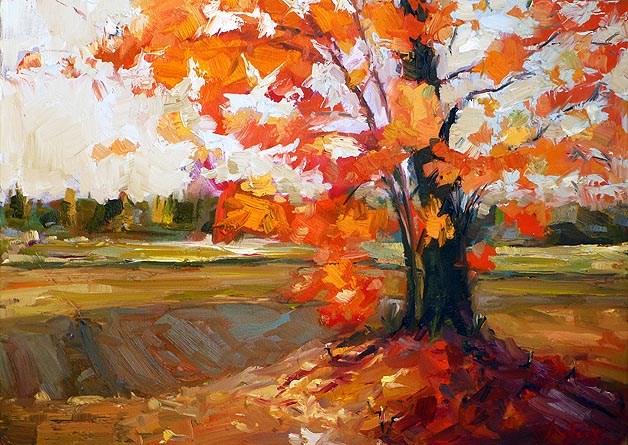 """Herbst Ahorn"" original fine art by Jurij Frey"