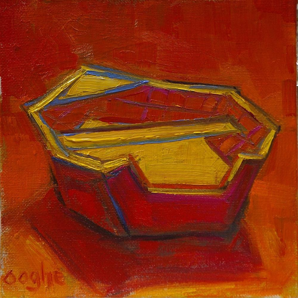 """Red and Yellow Boat"" original fine art by Angela Ooghe"