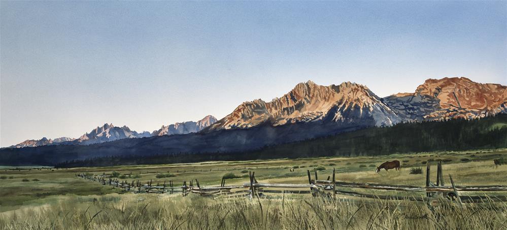 """Sawtooth Sunrise"" original fine art by Andy Sewell"