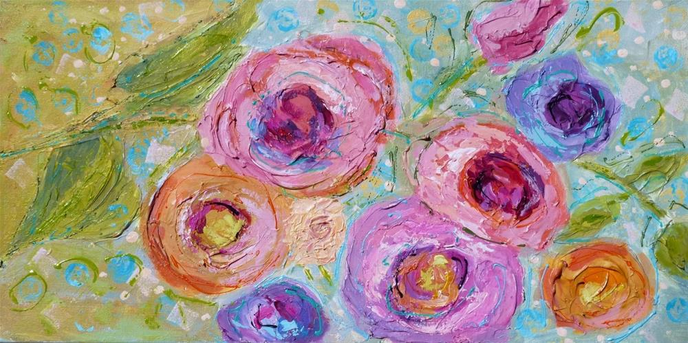 """Banner Roses #2 14051 gifted"" original fine art by Nancy Standlee"