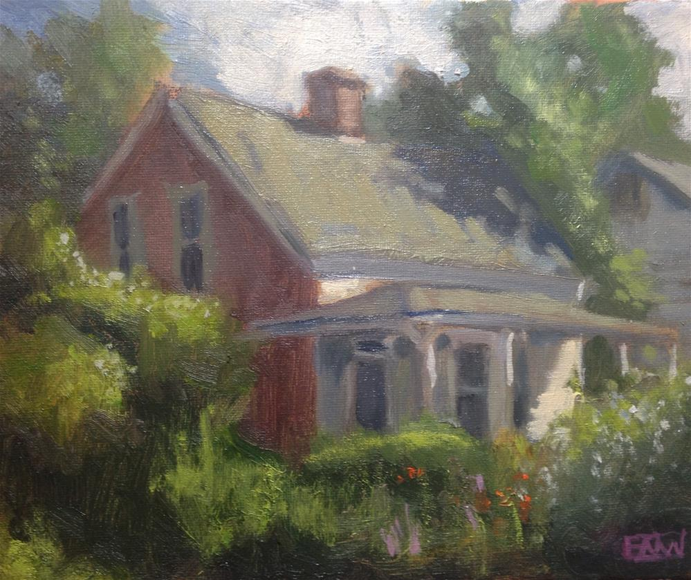 """""""Red Side of House"""" original fine art by eric wein"""