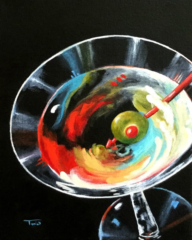 """Martini Stirred XI"" original fine art by Torrie Smiley"