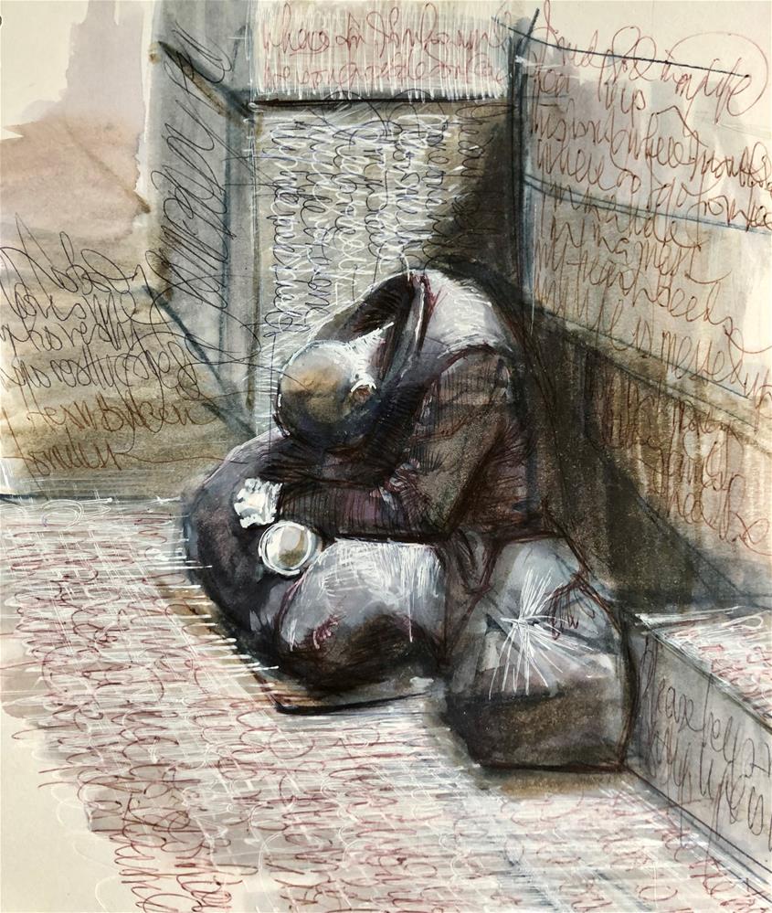 """My Life is messed up II"" original fine art by Adebanji Alade"