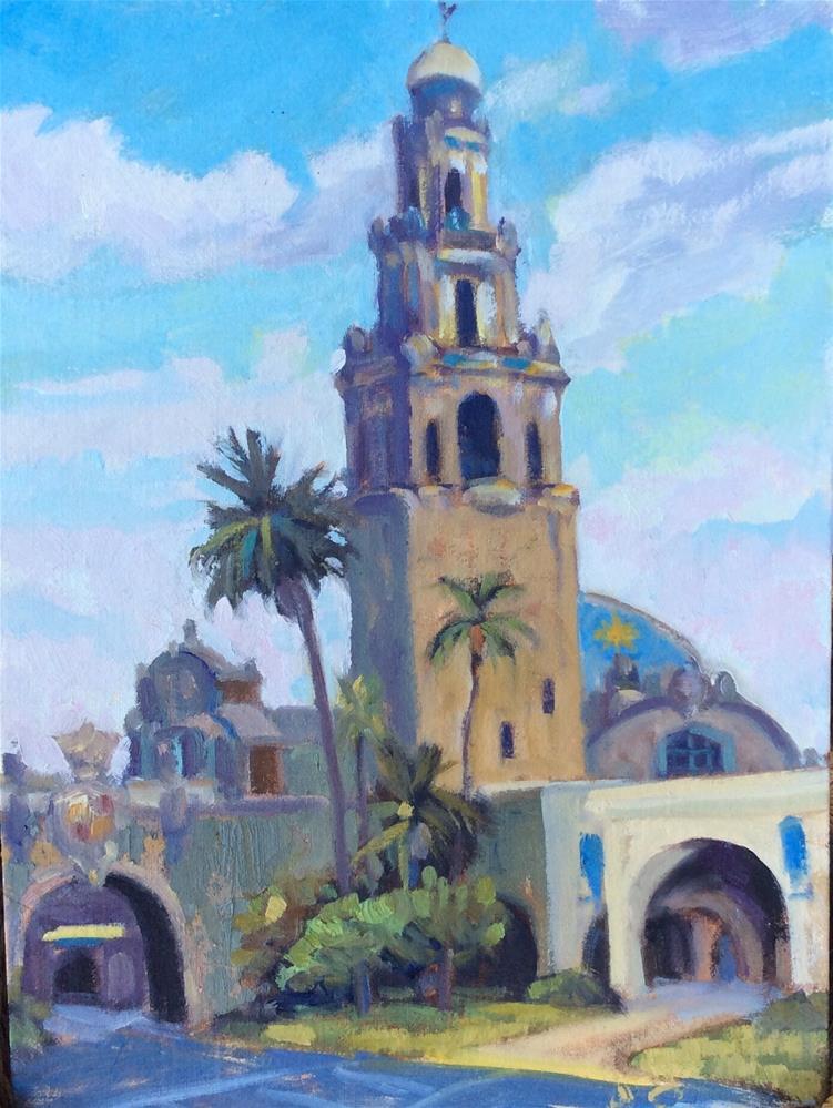 """Balboa Park"" original fine art by Leigh Alexandra Sparks"