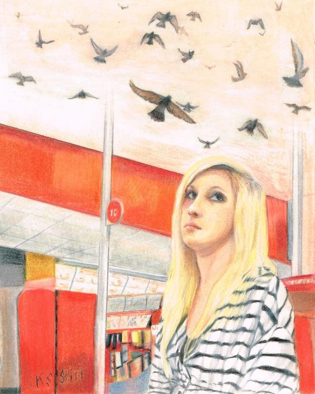 """""""Wisdom"""" original fine art by Karen Stitt"""
