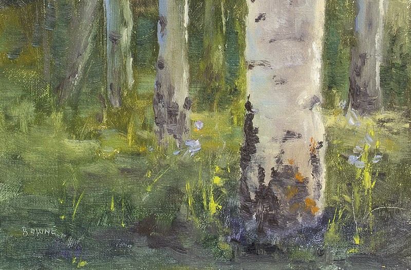 """Aspen Boles"" original fine art by Bonnie Bowne"