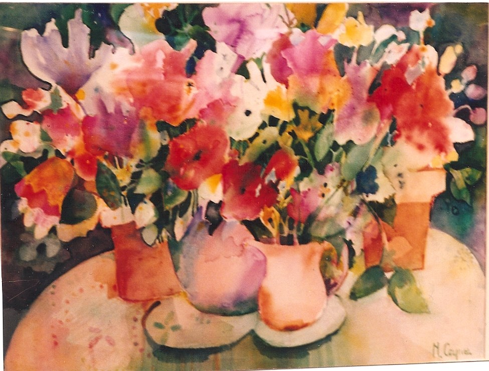 """Fridays flowers"" original fine art by meribeth coyne"