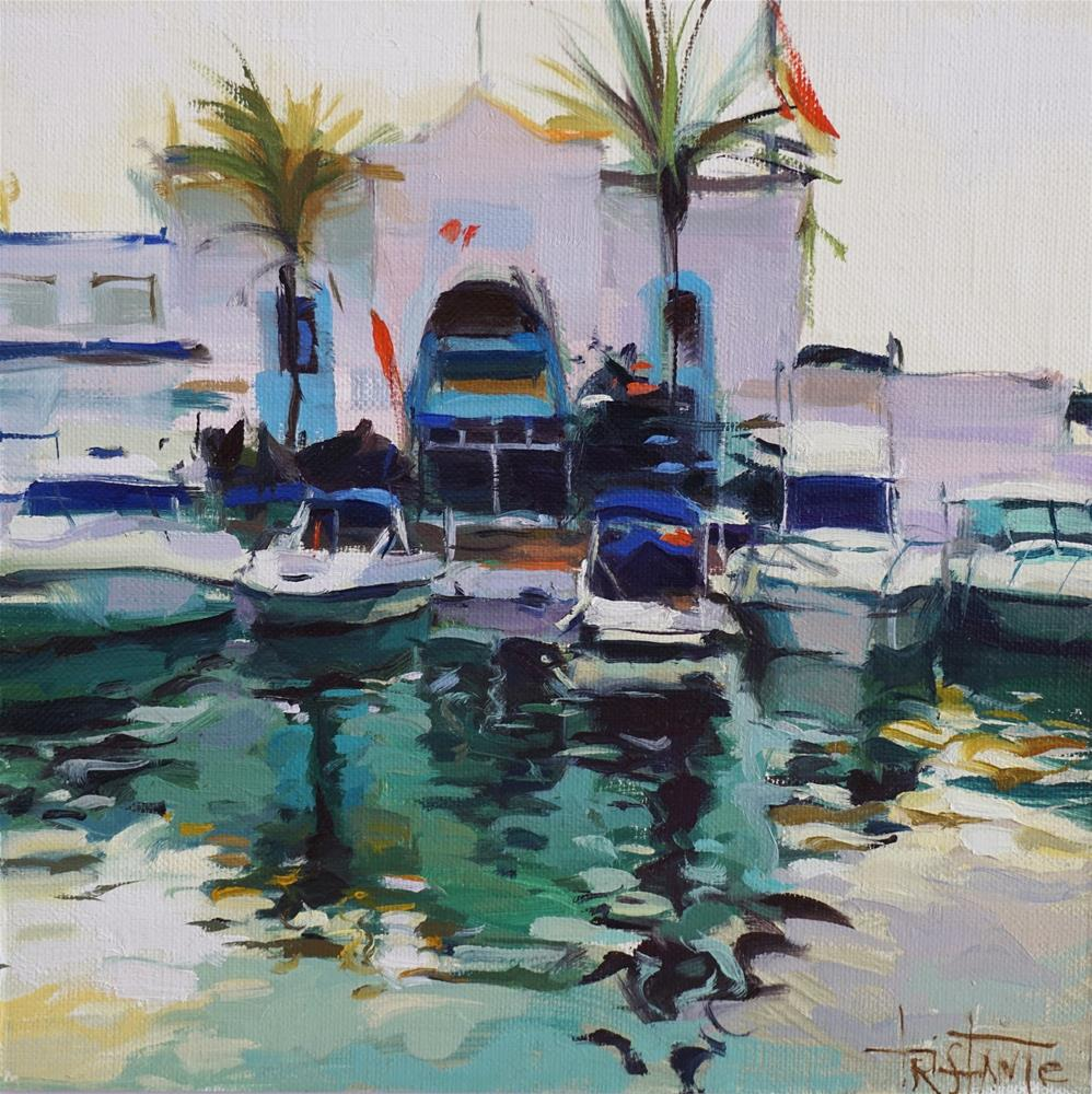 """Harbour reflects"" original fine art by Víctor Tristante"