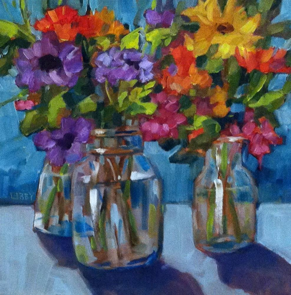 """""""Mixed Flowers"""" original fine art by Libby Anderson"""