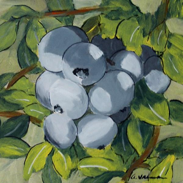 """""""Blueberry Bunch"""" original fine art by Anna Vreman"""