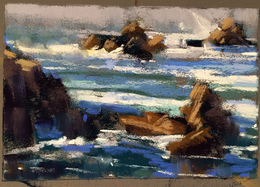 """Oregon Shore"" original fine art by Marla Baggetta"