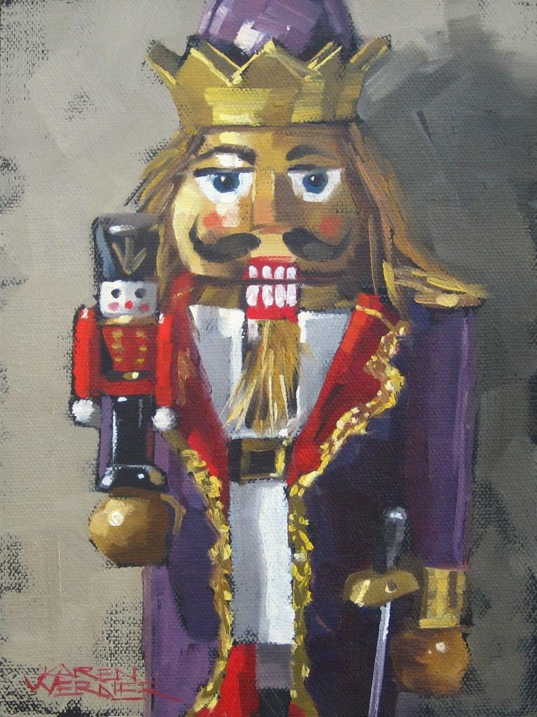 """King Cracker"" original fine art by Karen Werner"