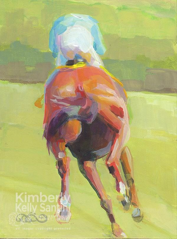 """On the Turf I"" original fine art by Kimberly Santini"