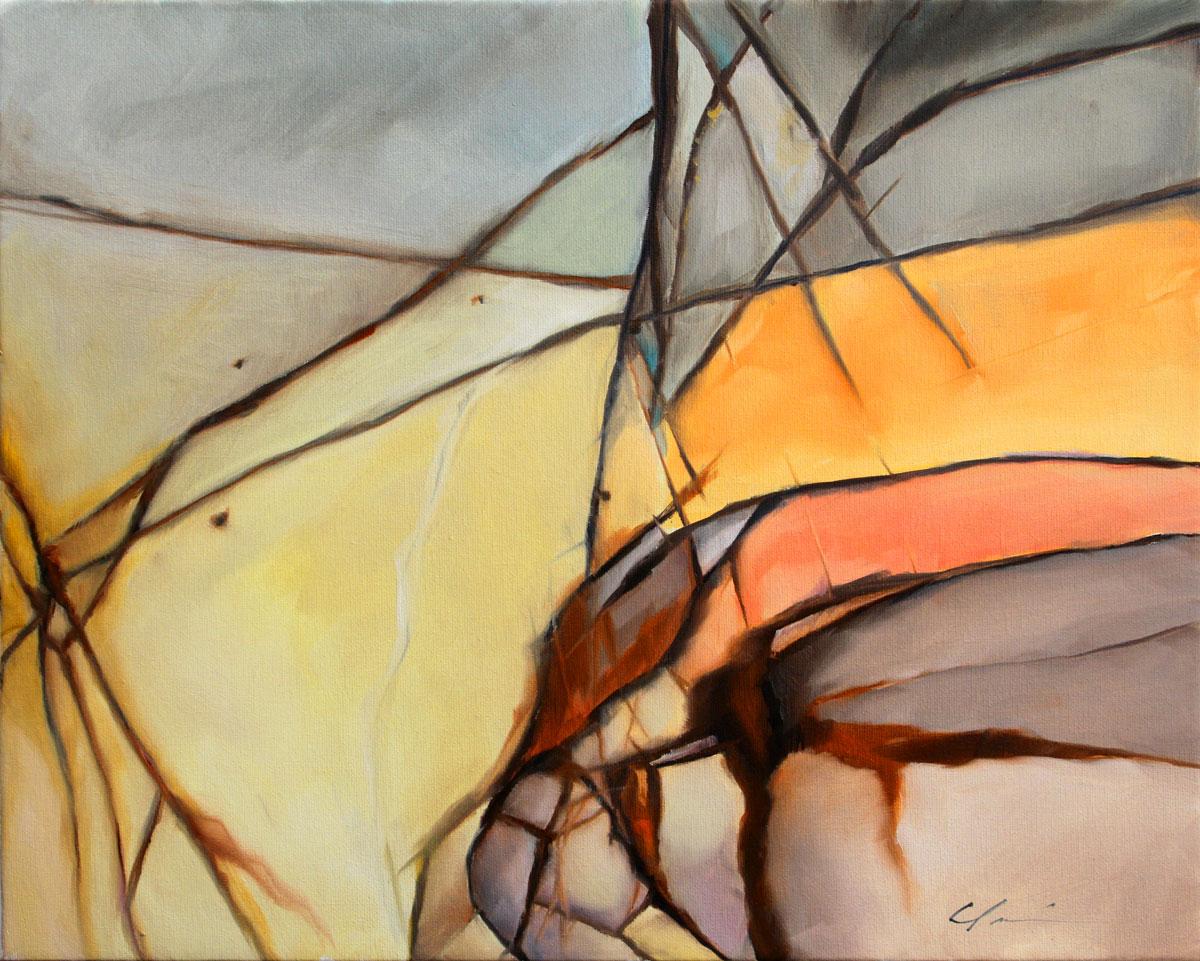 """Red Creek"" original fine art by Clair Hartmann"