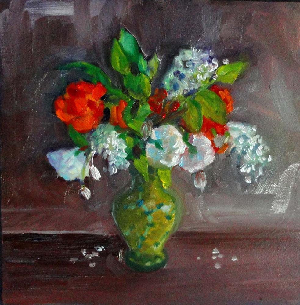 """""""Roses &  Plum Blossoms"""" original fine art by Cietha Wilson"""