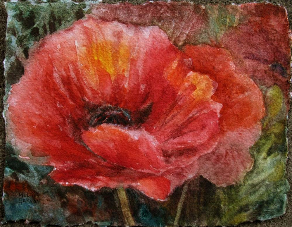 """Colorful Poppies"" original fine art by Melissa Gannon"