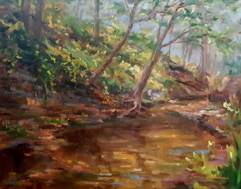 """Clinging to the Creek Bank"" original fine art by Tammie Dickerson"