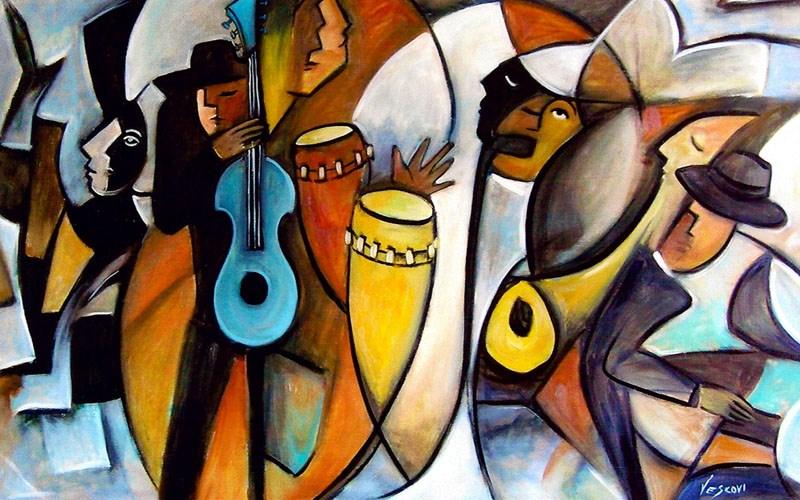 """Time for Bolero"" original fine art by Valerie Vescovi"