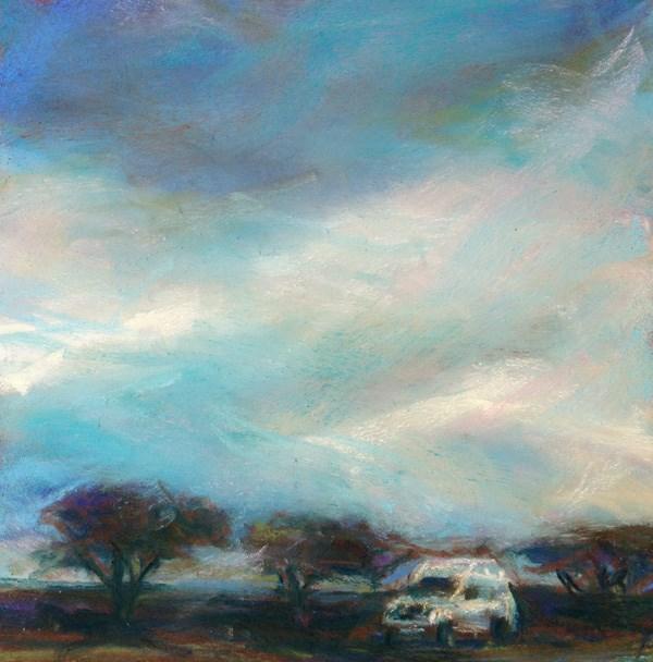 """RUSHING - 6 x 6 pastel by Susan Roden"" original fine art by Susan Roden"