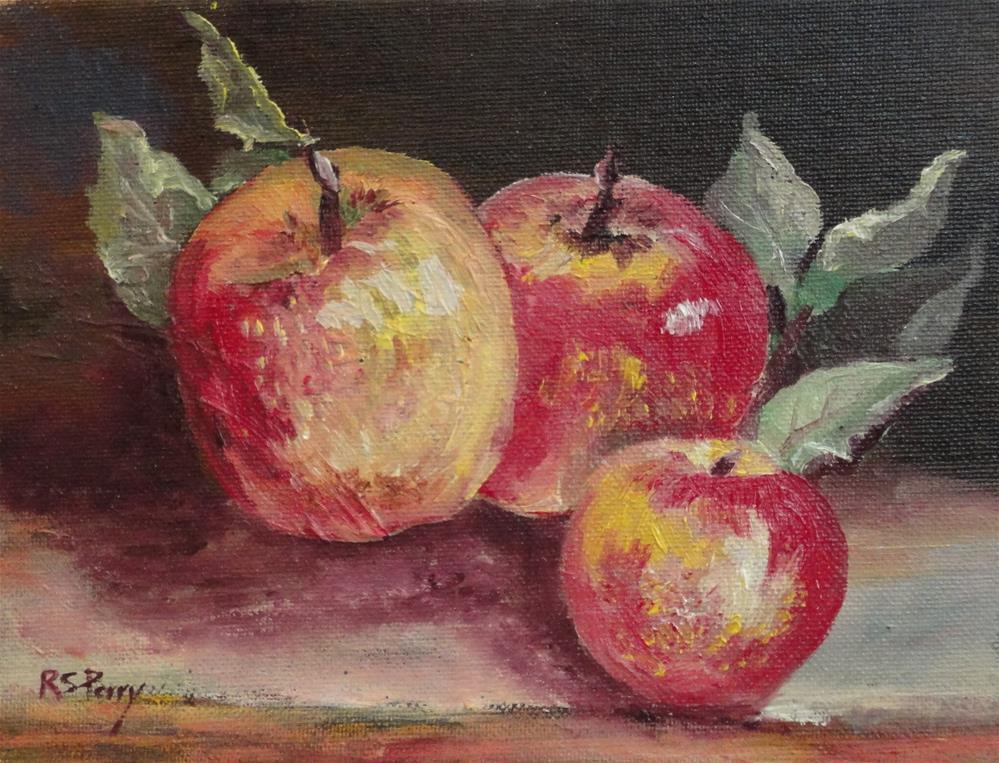 """""""Figi Apples """" original fine art by R. S. Perry"""