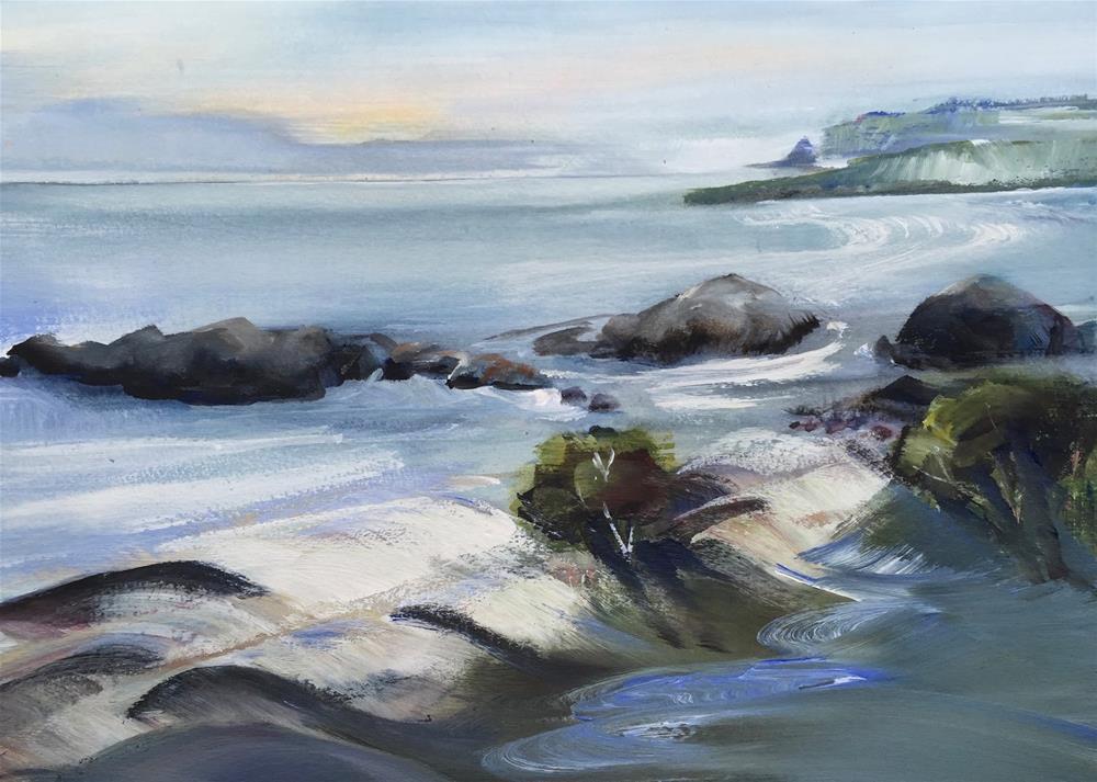 """Summer Waves"" original fine art by Shirley Peters"